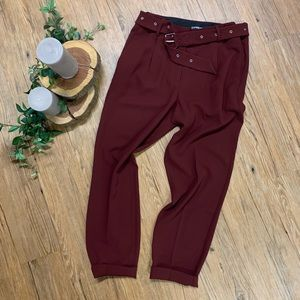 NWOT Express Red Tapered Dress Pants